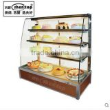 Shentop STPAJ-YH15 bread showcase/wooden bread bakery display case glass cabinet shelf rack