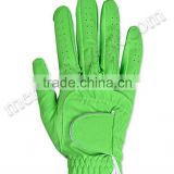 Green Synthetic Leather Golf Gloves
