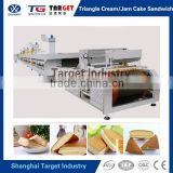 SH-Y300 Multi function Automatic Sandwich Cake / Cream Cake / Swiss Roll Cake making Production Line