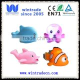 rubber toy bath whale fish floating LED vinyl small animal toy