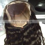 Fashion indian women hair wig afro kinky human hair wig 18'' full lace wig with baby hair