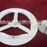 Stamping wheel part,Air grill, louverBase plates galvanized nickel White holder steel material, white epoxy powder