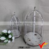Handmade Bulk Round Antique Wire Mesh Bird Cage