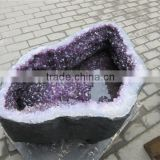 crystal craft table,crystal dining table,large amethyst cave