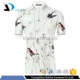 Daijun oem high quality 100% cotton short sleeves custom cheap animal printing men camouflage polo shirts