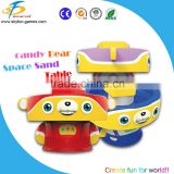 arcade game machine candy bear sand art table/kids table sand with music sounds
