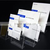 wholesale acrylic a4 sheet holder plexiglass menu holder clear document display holder