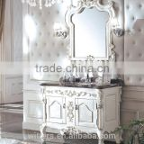 Top selling China import broker Antique bathroom cabinet single sink bathroom vanity WTS336