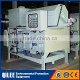 Stainless steel belt filter press for municipal effluent dewatering