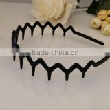 Hight quality cheap plastic black headband with teeth