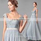 Wholesale Good Quality New Cheap Lace formal Cap Sleeve Beach Long Bridesmaid Dress LB37