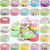 Wholesale YIWU FACTORY Wholesale 1.5cm x 10m paper Sticky Adhesive Sticker Decorative Washi Tape