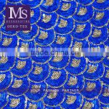 Graceful African Organza Sequins Lace colors fish scale sequin fabric for bag