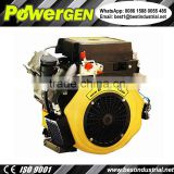 Best Seller!!! POWERGEN Battery Start Horizontal Keyway Shaft V-twin 2 Cylinders Diesel Engine 22HP