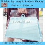 Pretty Transparent Acrylic Perspex Clutch Clear lady evening Handbag portable bag in hands