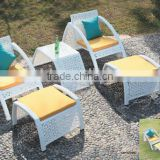 waterproof outdoor rattan beach leisure chairs with coffee table and stool outdoor furniture supplier manufacturer