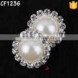 20mm Factory wholesale alloy pearl buckle for flower