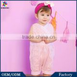 Importing Baby Clothes From China Summer Pink Toddler Bodysuit Pierced Lace Baby Romper