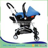 2017 China travel system baby trolley/one hand easy folding stroller for baby / light weight stroller pram