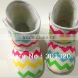 cute chevron baby boots free shipping,baby chevron snow shoes,infant shoes hottest item Rainbow Chevron Crib Boots