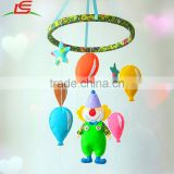 Custom circus clown colorful felt baby crib mobile