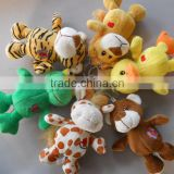 EN71 approved high quality stuffed animal keychain toys with metal ring