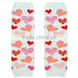 Wholesale Saint Valentine's Day baby girls red heart boot socks with lace ruffles M5051712