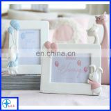 Hot selling custom made resin lovely baby picture photo frame, resin baby photo frame