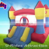 Home use Kids nylon mini inflatable bouncer with slide