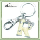 ALLOY CUSTOM METAL LETTER KEY RINGS