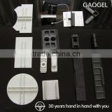 OEM custom injection molded furniture window pc/abs plastic parts plastic window inserts