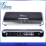 UCM6100 16 port voip pbx gateway fxo port PBX phone of VOIP pbx