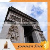 France famous building Arch de Triumph as stainless steel sculpture