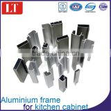 residential aluminum double entry doors customized extrusion profile kitchen cabinet frame and edge