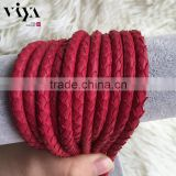 China Factory Wholesale Leather Cord/Rope 100% Python Snake Leather Cord with High Quality End