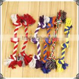Colorful dog rope toy ball with teeth dog toy