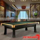 Tengbo new style luxury Malbork 9ft pool table cheap price