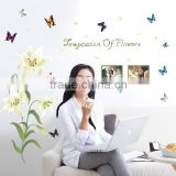 ALFOREVER removable pvc temptation of flowers butterfly wall sticker for room decaration                                                                                                         Supplier's Choice