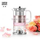 """SAMADOYO"" Wholesale Glass Teapot With Stainless Steel Infuser, Teapot With Candle Warmer"
