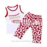 baby girls baseball boutique set organic baby clothing