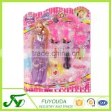 Customized disposable plastic toy of Barbie doll blister clamshell packaging