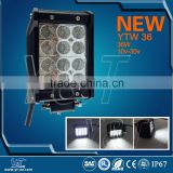 YTLB36J Quad rows led light bar 9-32v led worklamp 36w 4 inch led spotlight 24v high power for machinery
