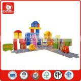 bulk buy from china 55 pcs wooden city blocks with plywood track house and traffic cars kids learning toy brick toys