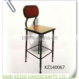KZ140067 Wrought iron wooden metal bar stools                                                                         Quality Choice