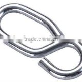 Stainless Steel AISI 304 316 Wire Rope 8 Shaped Hook Snap Hook ,Spring Hook in Carabiner Rigging