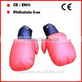 Red inflatable boxing gloves and safety of children's inflatable toy