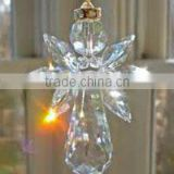 Engraved crystal angel, hanging ornament crystal angels