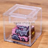 Best sale acrylic square box, clear acrylic display box,high quality acrylic storage box