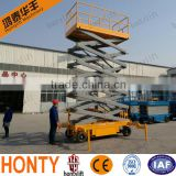 14M high quality Battery mobile scissor lift platform with walking aids equipment