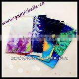 MIC4099 microfiber full printing pouch for Eyeglass Phone Ipad Jewelry